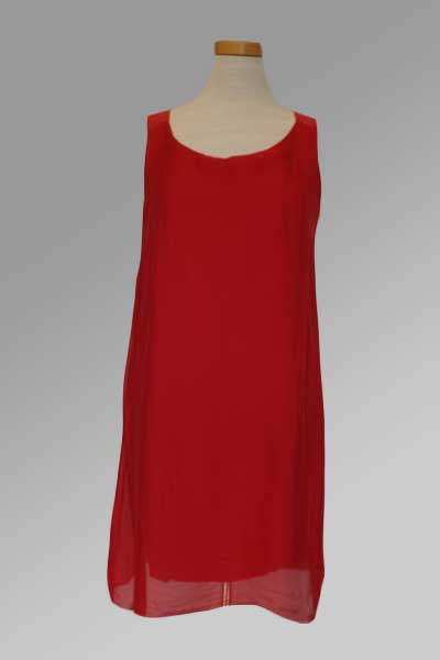 Italian red silk dress
