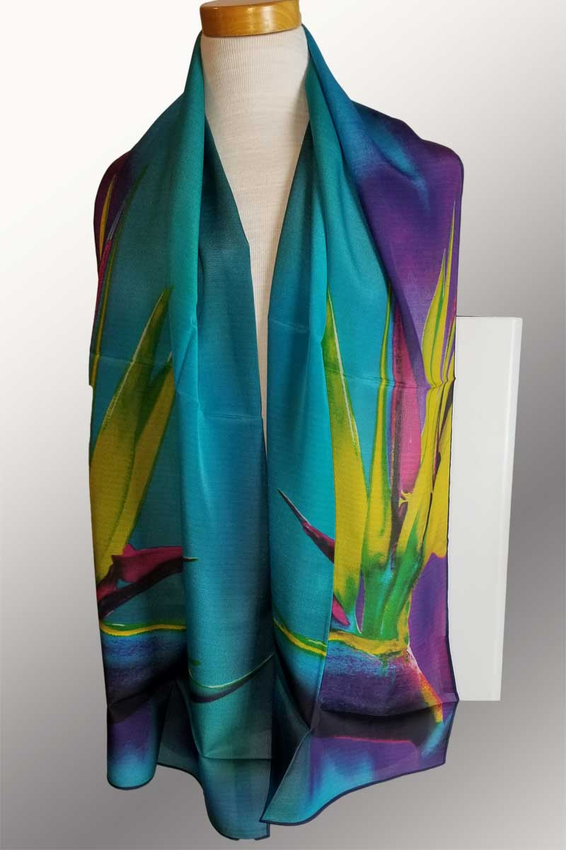 Silk Scarves - cooler tones
