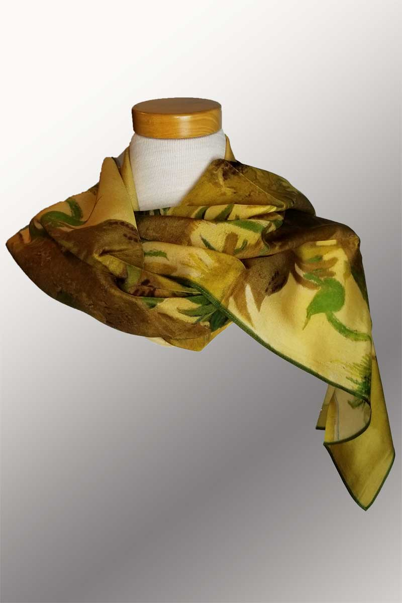 Silk Scarves - warmer tones
