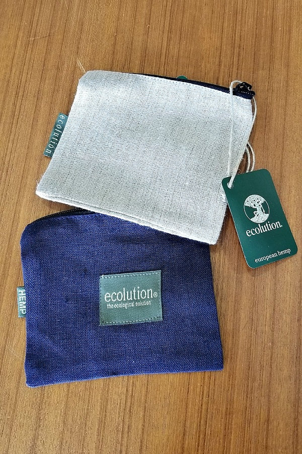 Hemp Pouch with Zipper - Natural Clothing Company