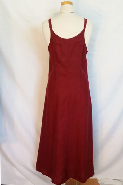 Linen Summer Dress with Straps (L only) - Natural Clothing Company