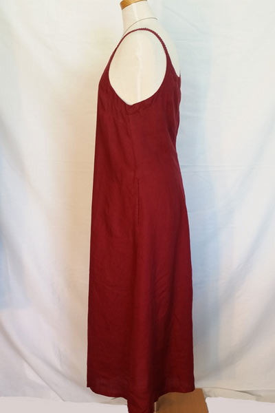 Linen Summer Dress with Straps - Natural Clothing Company