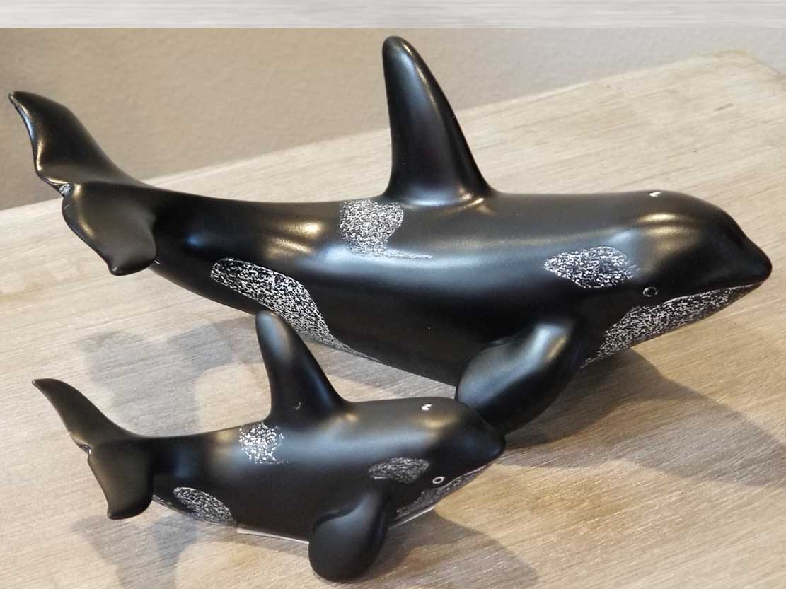 Orca Whale Sculpture - First Nations Art