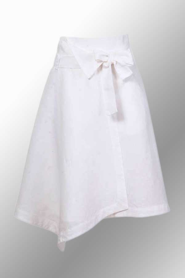 White Linen Skirt from Ivko