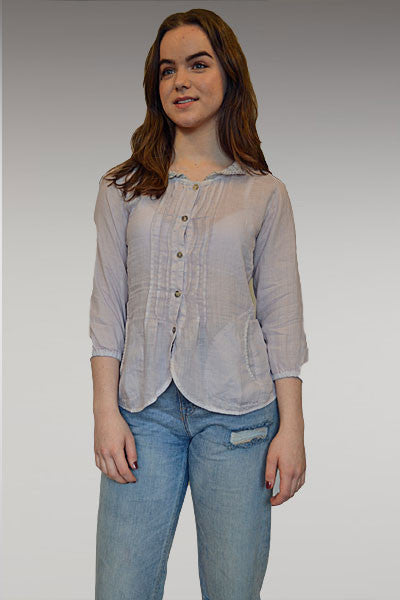Lace Collar Blouse - Natural Clothing Company