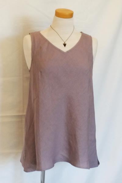A-line Linen Top V-neck - Natural Clothing Company