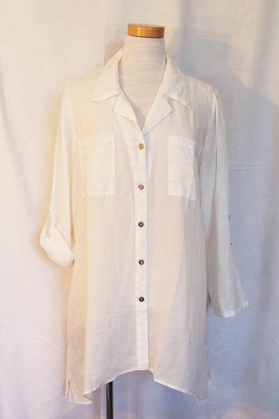 A Big White Shirt - Natural Clothing Company