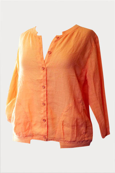 Light Summer Jacket with a Trim - Natural Clothing Company