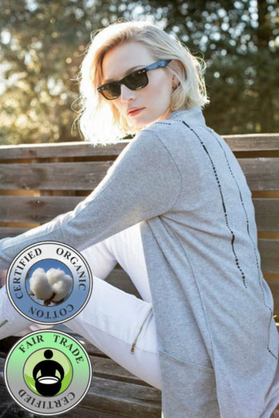 Organic Cotton Cardigan - Natural Clothing Company