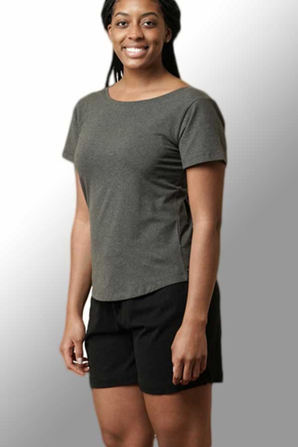 Women's Organic Cotton T-shirt - double neckline Essentials