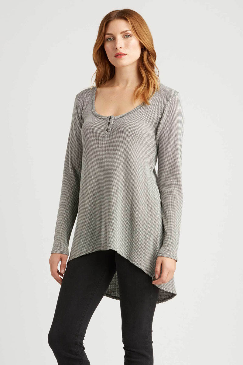 "Organic Cotton ""Waffle"" Texture Long Sleeve Tunic - Natural Clothing Company"