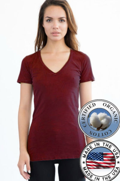 Organic Cotton V-neck Tee - Natural Clothing Company
