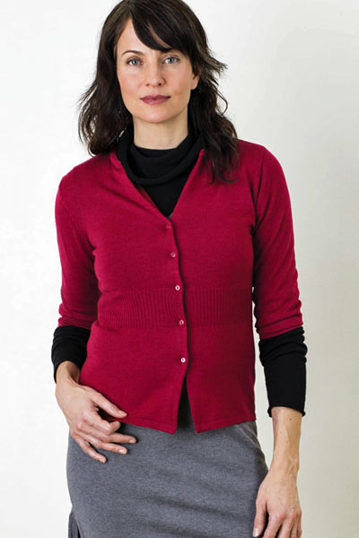 Merino Eco-Wool Cardi Sweater - Clara - Natural Clothing Company