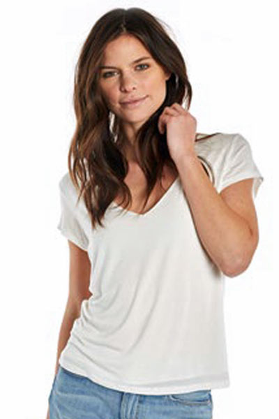 Soft Tencel V-neck Tee