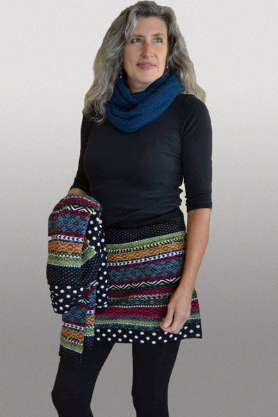 Icelandic Pattern Wool Skirt - Serena or Stella - Natural Clothing Company