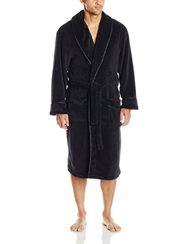 Intimo Men's Plush Robe with Satin Trim