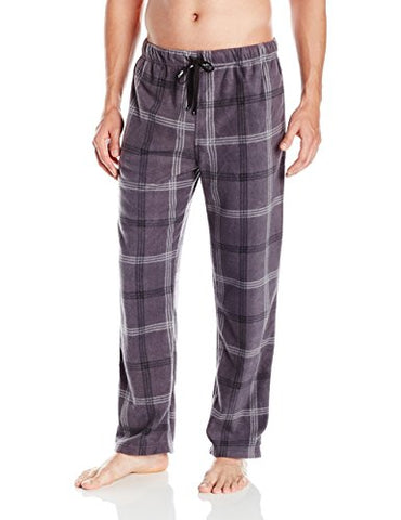 Intimo Men's Microfleece Plaid Lounge Pant