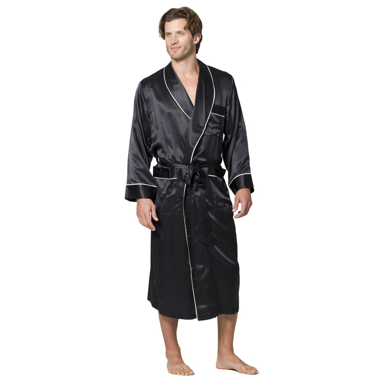 Luxury Deco Silk Robe - Intimo