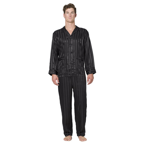 Satin Stripe Silk Pajama