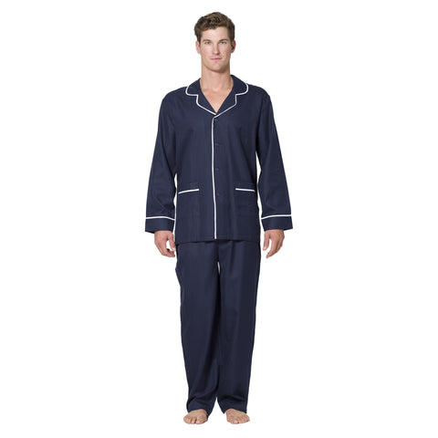 Cotton Herringbone Long Pajama - Intimo