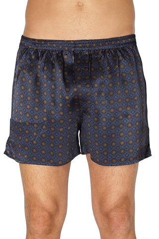 Intimo Men's Printed Silk Boxers