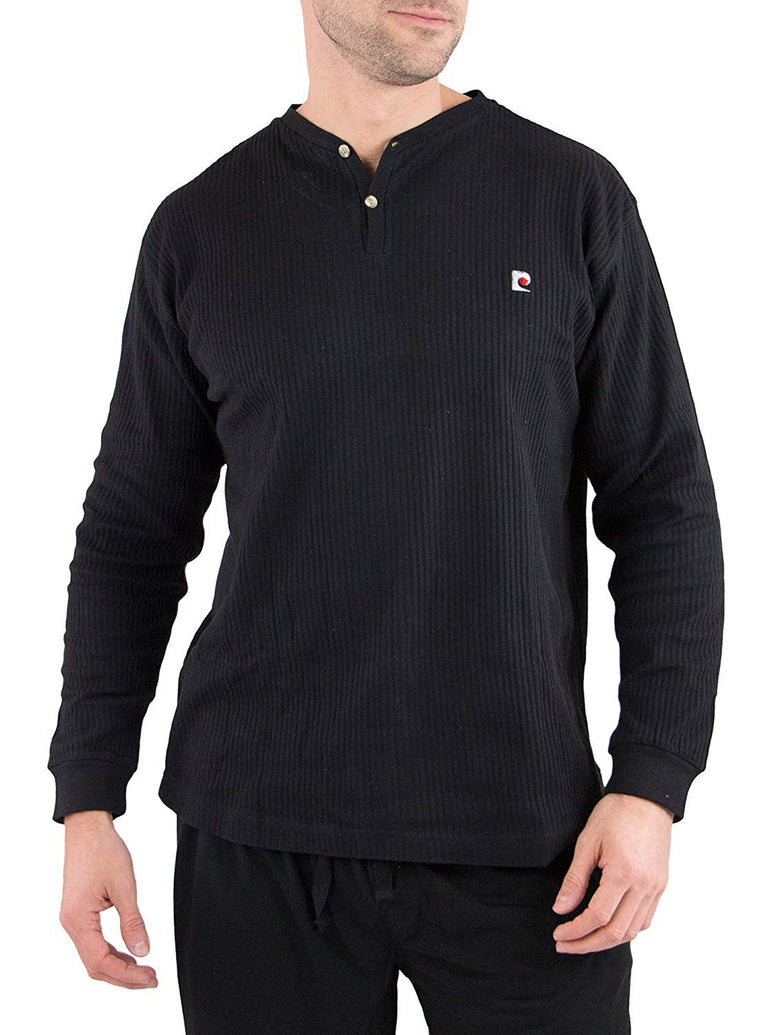 Men's Long Sleeve Cotton Rib Henly Lounge Top