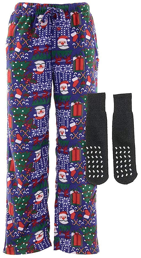 Mens Christmas Pajamas.Max Deco Men S Christmas Fleece Pajama Pants
