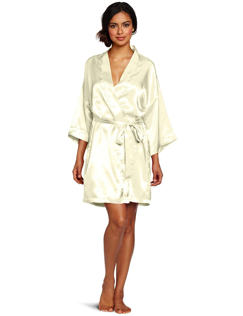 Intimo Women's Poly Charmeuse Robe