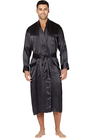 Intimo Men's Printed Belgravia Silk Robe