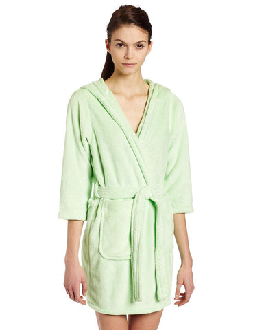 Intimo Women's Plush Fleece Hooded Robe