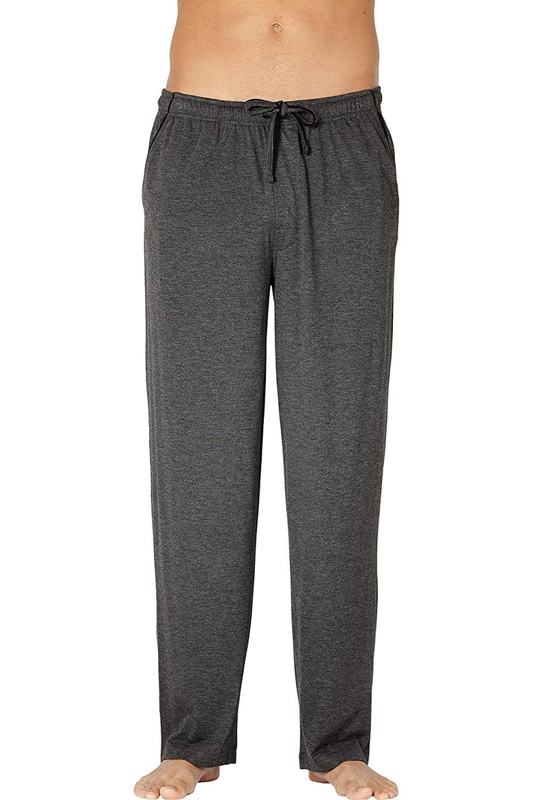Intimo Men's Black Brown Soft Knit Lounge Pant