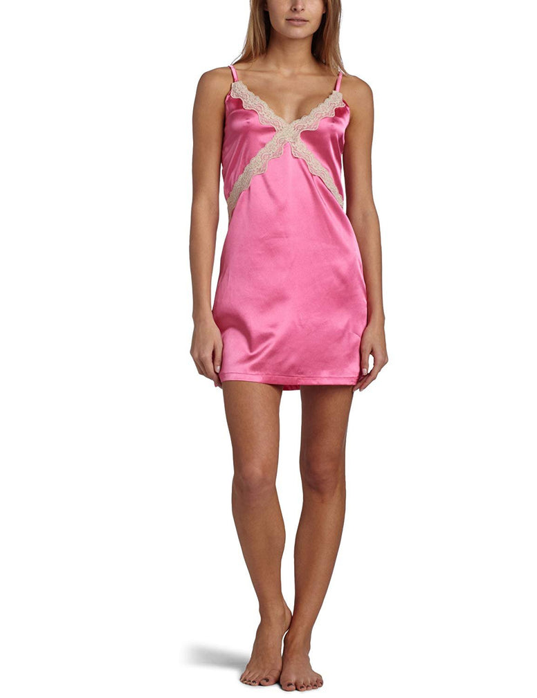 Intimo Women's Stretch Charmeuse Chemise