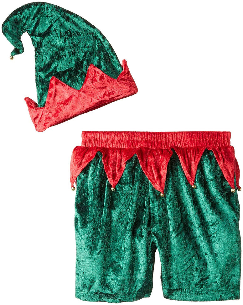 Intimo Men's Velour Holiday Boxers with Hat