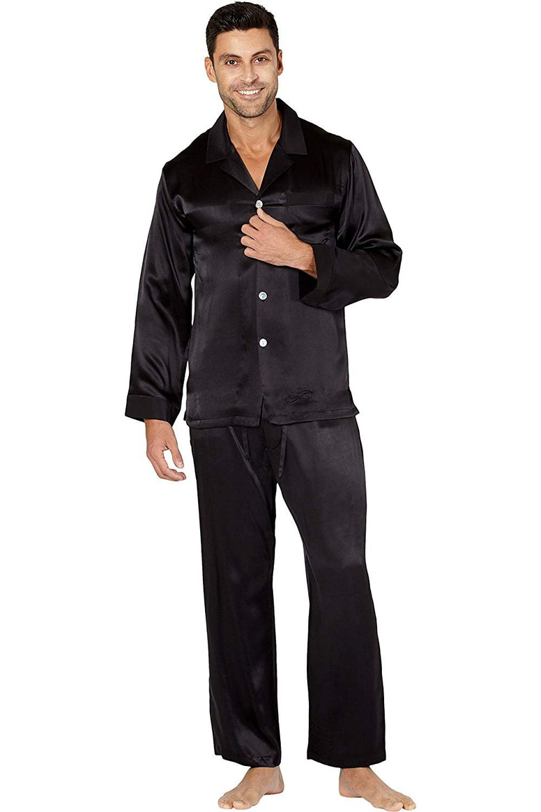 Men's Slim Fit Silk Pajama Set