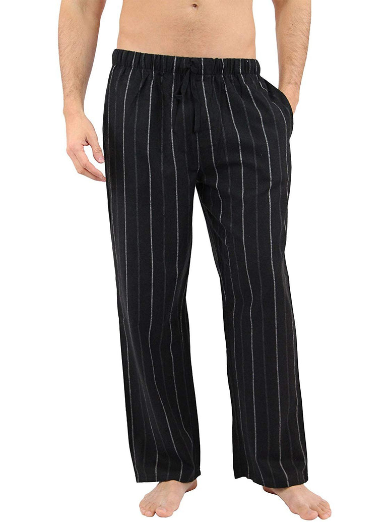 Black Bamboo Flannel Pajama Sleep Pants