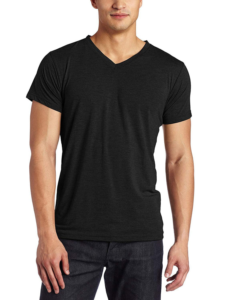 Intimo Mens Soft Knit Short Sleeve V-Neck Top