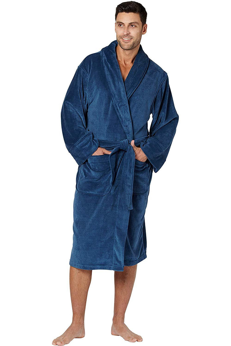Men's Cozy Plush Fleece Robe