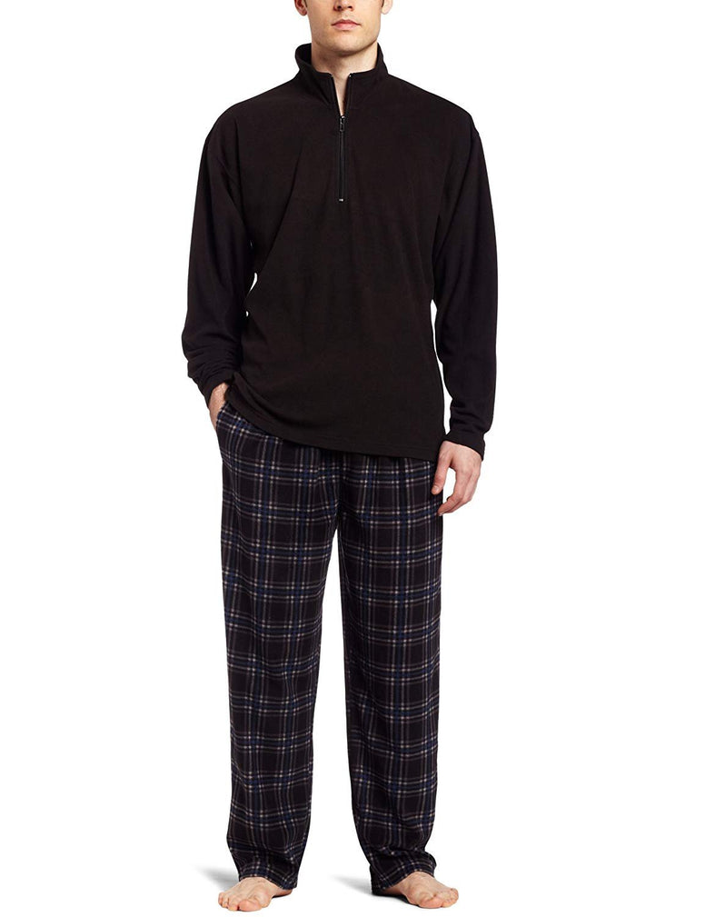 Intimo Men's Micro Fleece Two Piece Pajamas Set