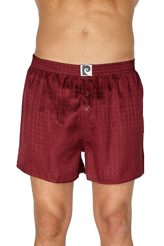 Intimo Solid Checkered Jacquard Silk Boxer