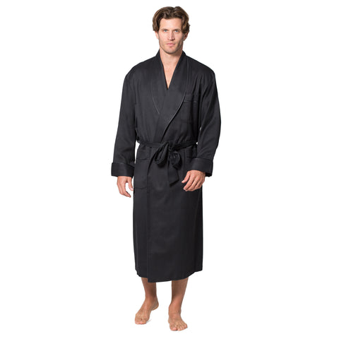 Men's Silk Wool Robe - Intimo