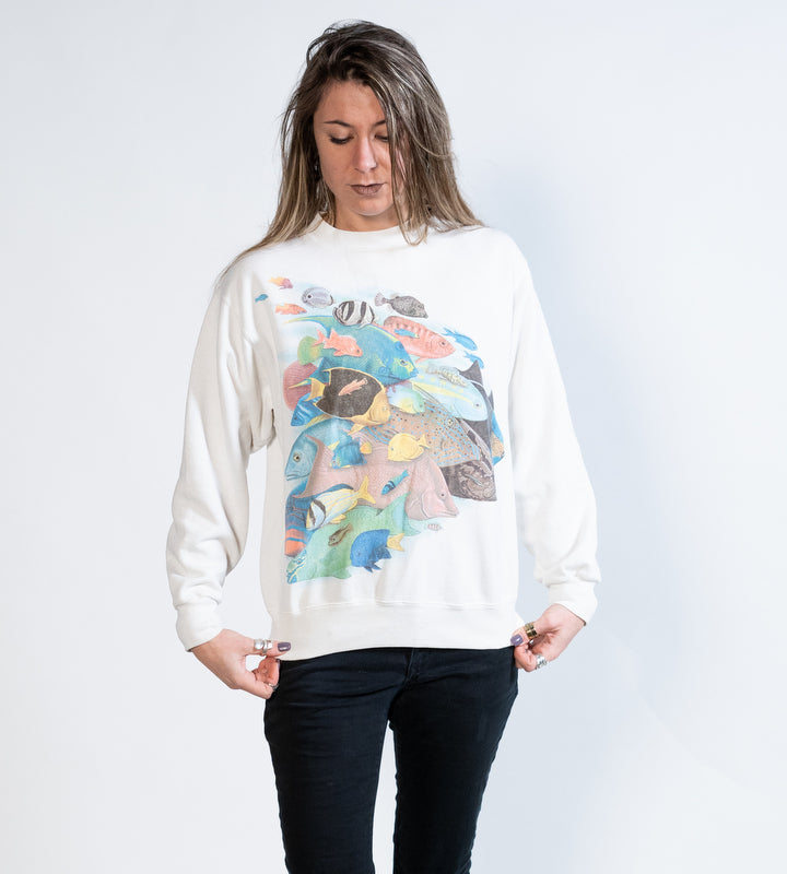 90's Graphic Fish Sweatshirt