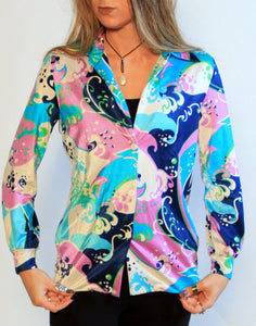 Psychedelic Button Up Sz SM