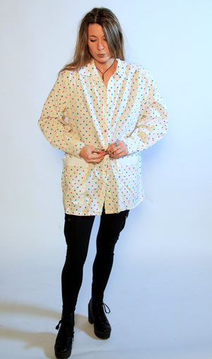 Beach Polka dot button up