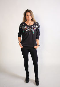 Women's Spree International Jeweled Vintage 80's/ 90's Shirt