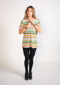 NPC Fashions Women's Striped Henley Shirt