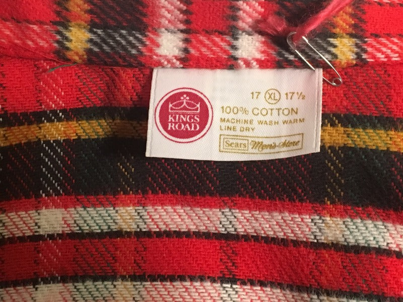 Deadstock Men's 70's Sear's Flannel