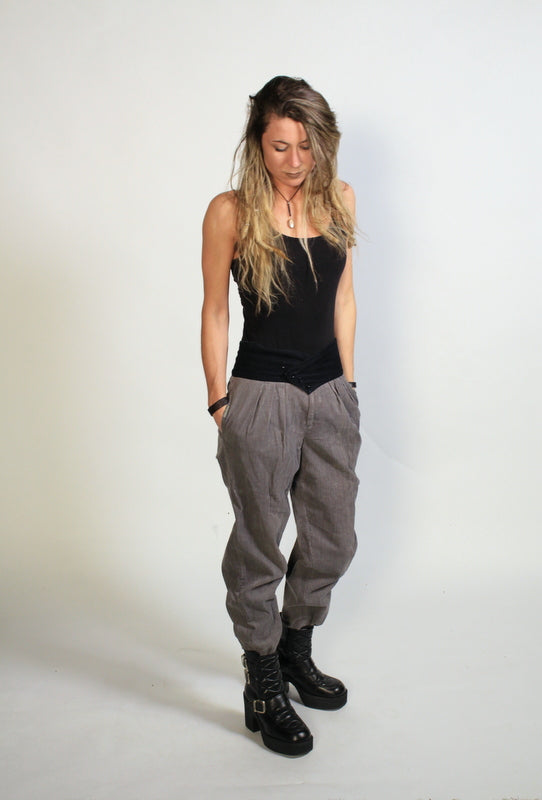 Sasson Grey and Black Corduroy Pants