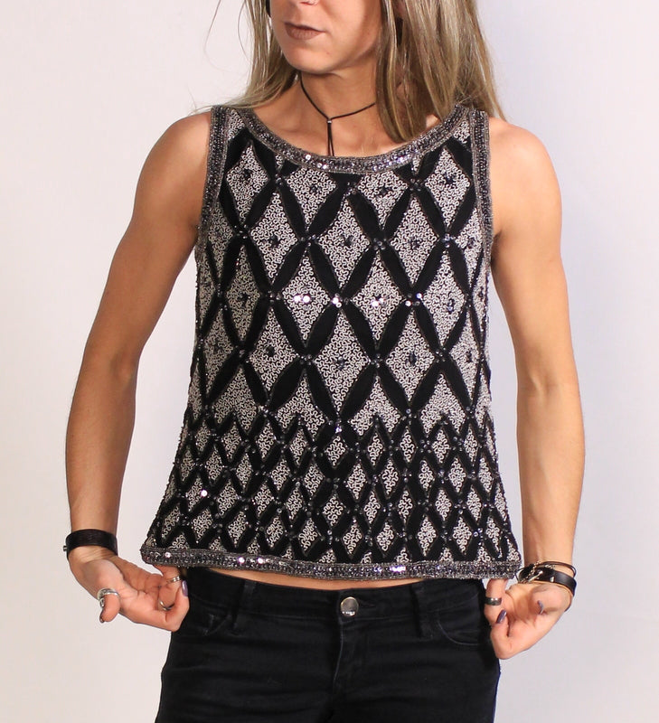 Sequin Sleeveless Small Top