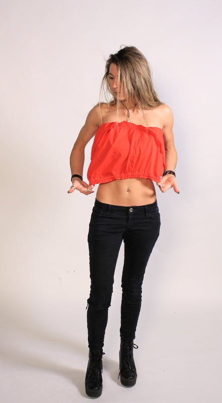 Cropped Halter Top Sz L