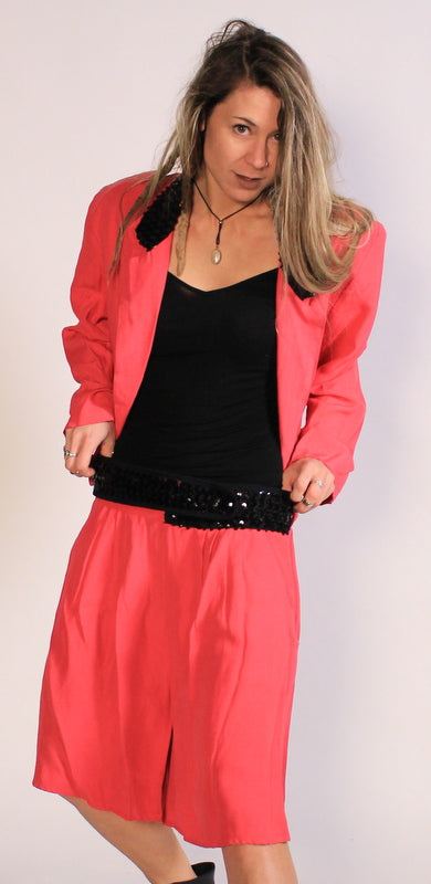 HOT Pink Two- Piece Sz L